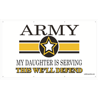 5'x3' Army Star Banner - Daughter Serving
