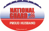 Proud Husband National Guard Decal