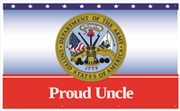 5'x3' Proud Uncle Army Banner