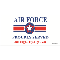 6'x3' Air Force Star Banner - Proudly Served