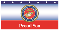 6'x3' Proud Son Marines Banner