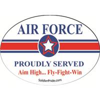 Air Force Star Decal - Proudly Served