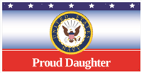 6'x3' Proud Daughter Navy Banner