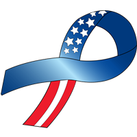 Customizable Ribbon Decal - Flag