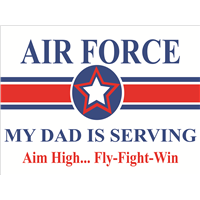 Air Force Star Yard Sign - Dad Serving
