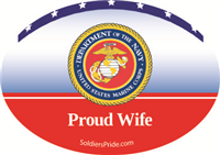 Proud Wife Marines Decal