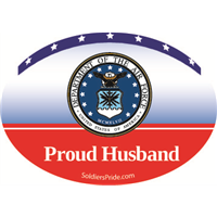 Proud Husband Air Force Decal