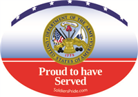 Army Seal Proud To Have Served Decal