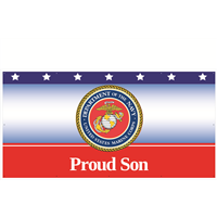 8' x 4' Proud Son Marines Banner