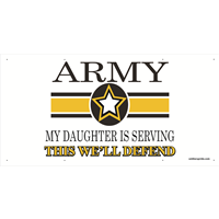 6'x3' Army Star Banner - Daughter Serving