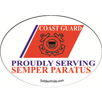 Coast Guard Stripe Decal - Proudly Serving