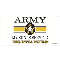 6'x3' Army Star Banner - Son Serving