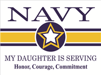 Navy Star Yard Sign - Daughter Serving