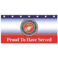 6'x3' Proud To Have Served Marines Banner