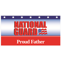 6'x3' Proud Father National Guard Banner