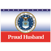 3'x2' Proud Husband Air Force Flag