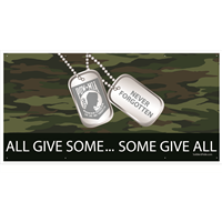 6'x3' All Give Some Some Give All POW MIA Banner