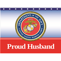 Proud Husband Marines Yard Sign
