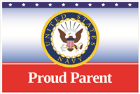 3'x2' Proud Parent Navy Flag