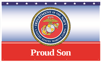 5'x3' Proud Son Marines Banner