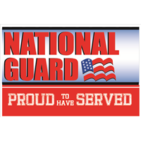 3'x2' Proud To Have Served National Guard Flag