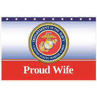 3'x2' Proud Wife Marines Flag
