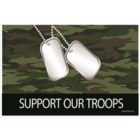 3'x2' Support Our Troops Camo Flag