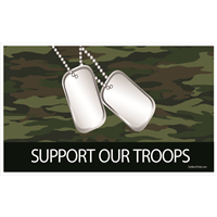 5'x3' Support Our Troops Camo Flag