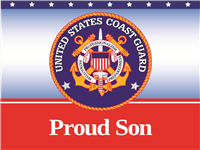Proud Son Coast Guard Yard Sign