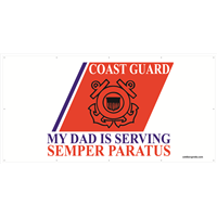 8'x4' Coast Guard Stripe Banner - Dad Serving