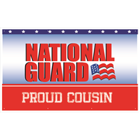 5'x3' Proud Cousin National Guard Banner