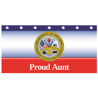 6'x3' Proud Aunt Army Banner