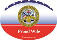 Proud Wife Army Decal