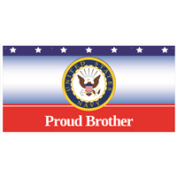 6'x3' Proud Brother Navy Banner