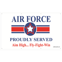 5'x3' Air Force Star Banner - Proudly Served