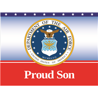 Proud Son Air Force Yard Sign