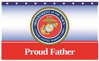 5'x3' Proud Father Marines Banner