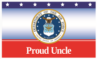 5'x3' Proud Uncle Air Force Flag