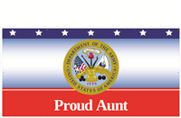 8'x4' Proud Aunt Army Banner