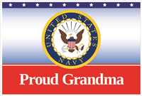 3'x2' Proud Grandma Navy Flag