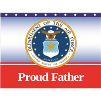 Proud Father Air Force Yard sign