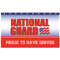 5'x3' National Guard Proud To Have Served Banner
