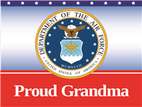 Proud Grandma Air Force Yard sign