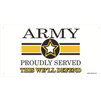 6'x3' Army Star Banner - Proudly Served