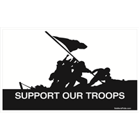 5'x3' Support Our Troops Iwo Jima Flag
