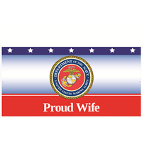 8' x 4' Proud Wife Marines Banner