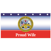 6'x3' Proud Wife Army Banner