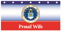 6'x3' Proud Wife Air Force Banner