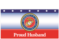 8' x 4' Proud Husband Marines Banner