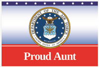 3'x2' Proud Aunt Air Force Flag